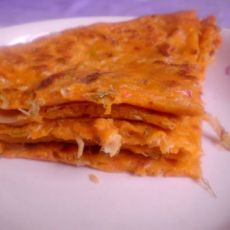 韩式辣白菜饼的做法