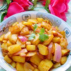 韩国辣酱炒土豆