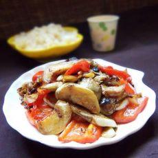 红椒炒白茄