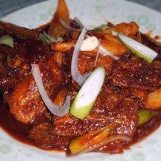 韩式辣炒刀鱼