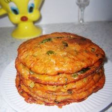 辣包菜饼的做法