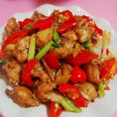 红椒爆鸡翅的做法