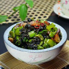 青椒炒榄菜