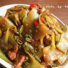 肉炒莴笋片