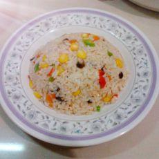 玉米青椒炒饭的做法
