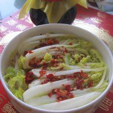 鸡汁剁椒粉丝娃娃菜