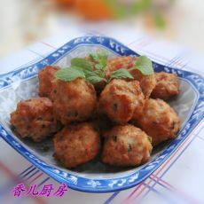 葱花虾仁肉丸的做法