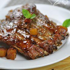 迷迭香烤羊排――下酒菜