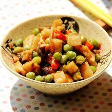 酱炒豌豆莲藕的做法