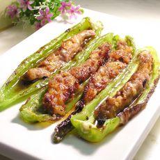 虾肉酿杭椒的做法