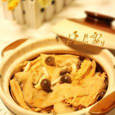 双竹蟹味菇煲