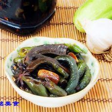 腌黄瓜辣椒咸菜