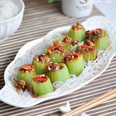 蒜蓉粉丝蒸丝瓜――下酒菜