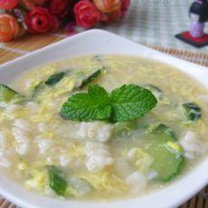 黄瓜疙瘩汤