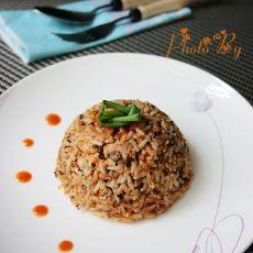 茄汁鲭鱼炒饭
