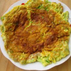 青椒鸡蛋饼