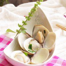 罗勒盐水煮文蛤
