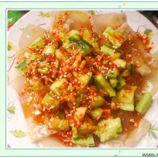 凉拌黄瓜猪皮冻的做法