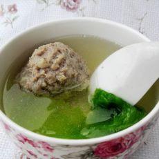 狮子头生菜汤