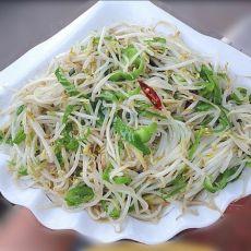 青椒炒绿豆芽