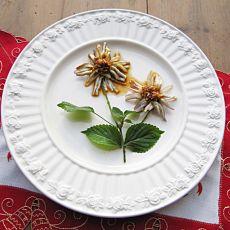 香辣菊花茄子—蒸着吃更健康
