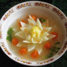 蒸大白菜莲花的做法