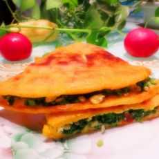 韭菜鸡蛋烀饼的做法