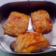 苋菜糯米桃子派的做法