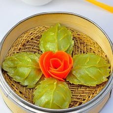 豌豆苗树叶饺子