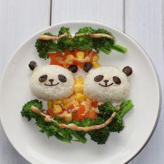 千岛酱熊猫饭团