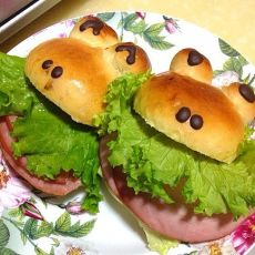 青蛙火腿堡的做法