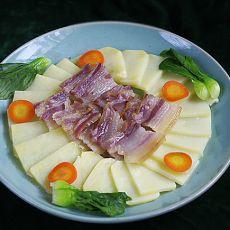土豆片蒸咸肉的做法