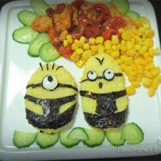 小黄人蕃茄鸡肉套餐的做法