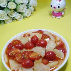 圣女果炒土豆