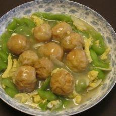 面筋塞肉烩丝瓜