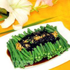 黑麻汁拌豇豆