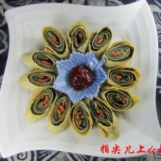五彩素菜卷