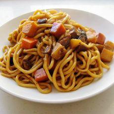 香菇土豆焖面的做法