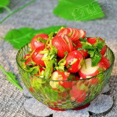 香菜樱桃小萝卜的做法