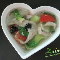 青菜蘑菇汤的做法