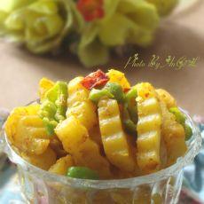 黄金咖喱土豆条的做法
