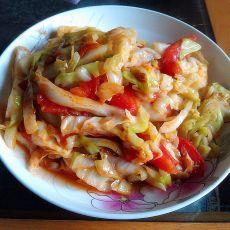 番茄炒包菜的做法