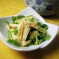 红油香菜拌腐竹