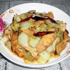 炸豆腐炒白菜