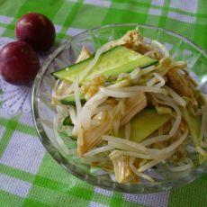 腐竹豆芽拌黄瓜