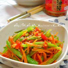 油辣椒豇豆萝卜丝的做法