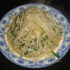 韭菜炒豆芽