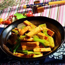 酱爆芹菜豆干的做法