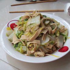 大白菜炒豆皮的做法