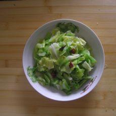 辣炒卷心菜的做法